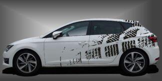 Aufkleber Design Limousine Set 709