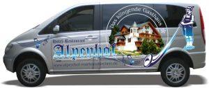 Autoaufkleber Hotel Alpenhof von Foliafox.de