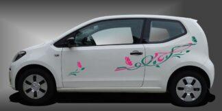 Blumen Autoaufkleber Kleinwagen Set 903