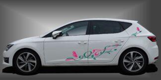 Blumen Aufkleber Limousine Set 903