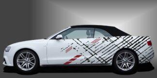 Autoaufkleber Racing Streifen Cabrio Set 717