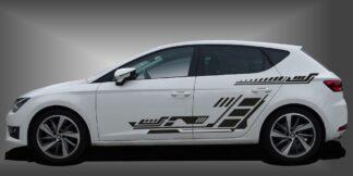 sportliche Autoaufkleber Limousine Set 507