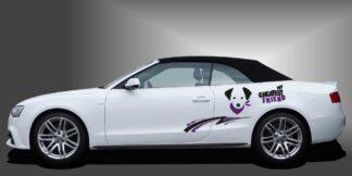 Hunde Autoaufkleber Cabrio Set 907