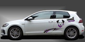 Autoaufkleber Hund Kompaktklasse Set 907