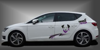 Auto Aufkleber Hund Limousine Set 907