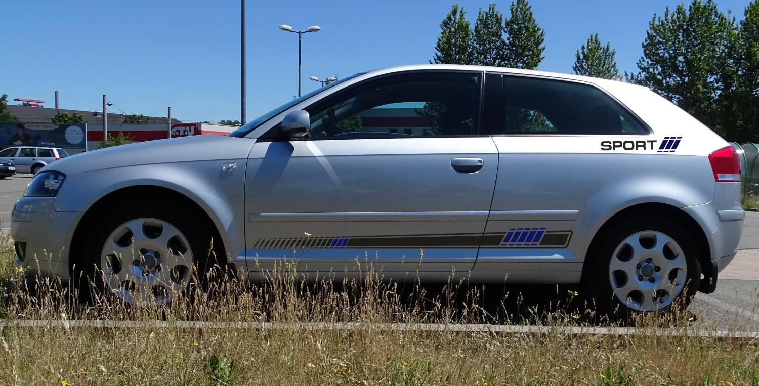 Audi A3 Set 315 anthrazit/blau