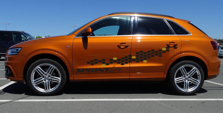 Audi Q3 Set 531 mattschwarz/gold