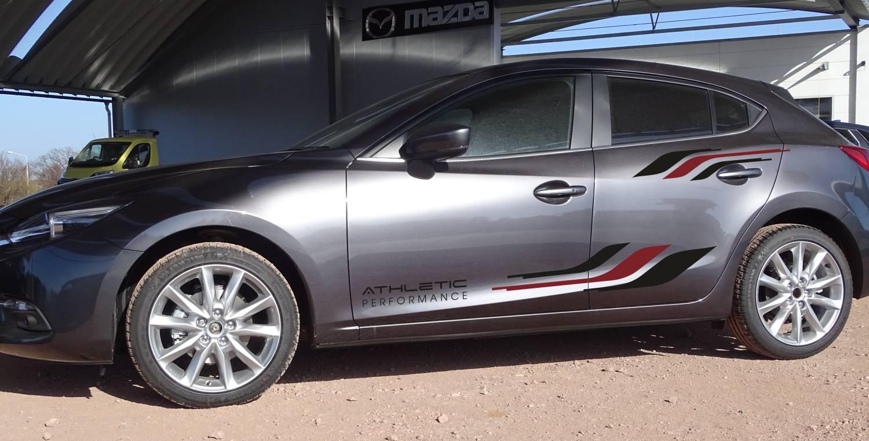 Mazda 6 Set 307 schwarz/dunkelrot