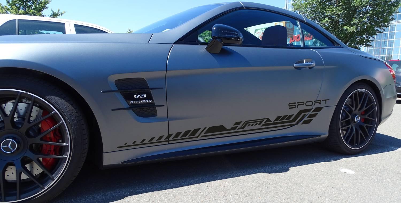 Mercedes V8 Coupé Set 317 mattschwarz