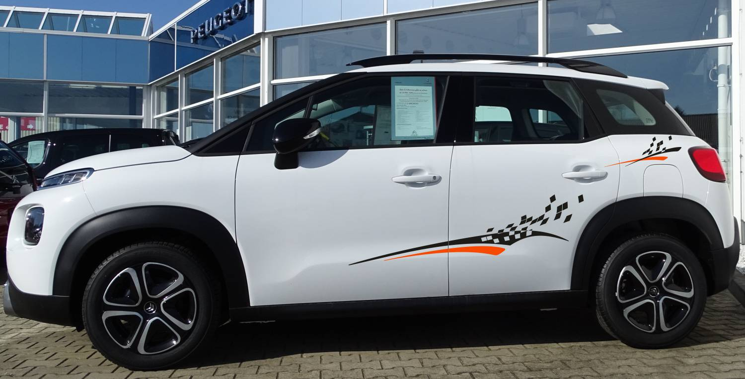 Citroen C3 Set 501 schwarz/orange