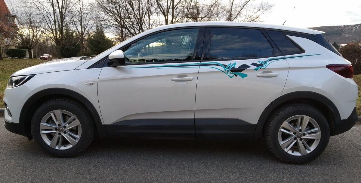 Opel Grandland X Set 311 schwarz/türkis