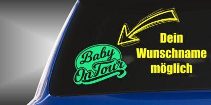 Baby on Tour Sticker mit Wunschname