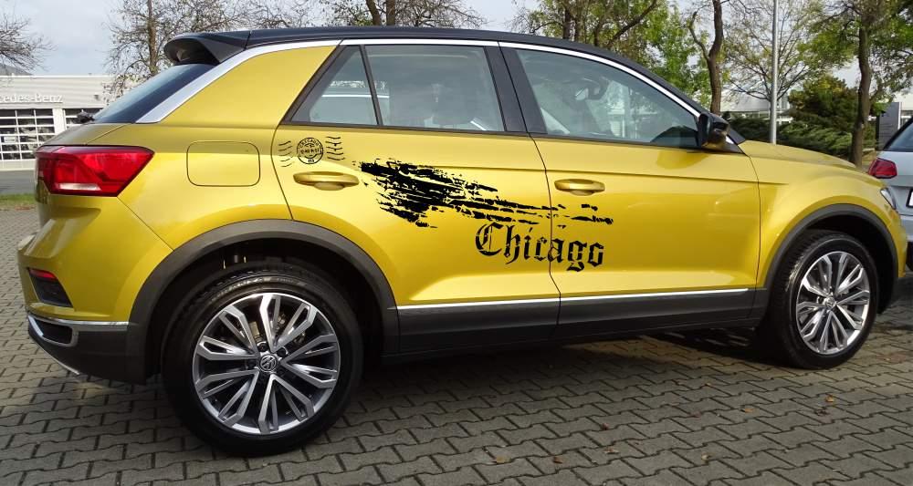 VW T-Roc Set 543 mattschwarz
